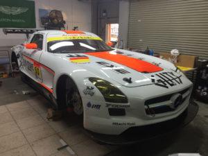 プロテクションフィルムを施工したレーシングカーその2