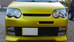 ヘッドライトの黄ばみと曇りの除去、ヘッドライトコーティング