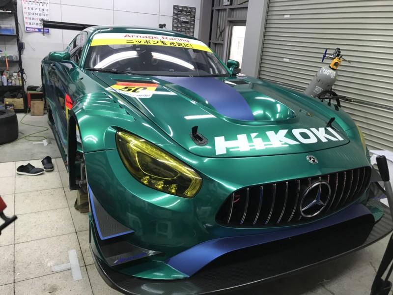 プロテクションフィルム・カーラッピング施工 AMG GT GT3