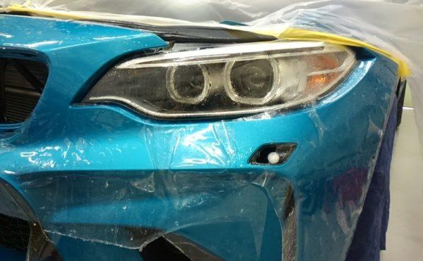 プロテクションフィルム施工 BMW M2 フロントバンパー