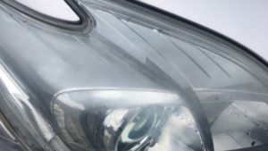 ヘッドライトリペア曇り・黄ばみ除去 ヘッドライトスチーマー「ドリームコート」プリウス30(愛知県・岐阜県・三重県・名古屋)