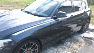 Mパフォーマンスストライプ剥がし貼り替え BMW (愛知県・岐阜県・三重県・名古屋)