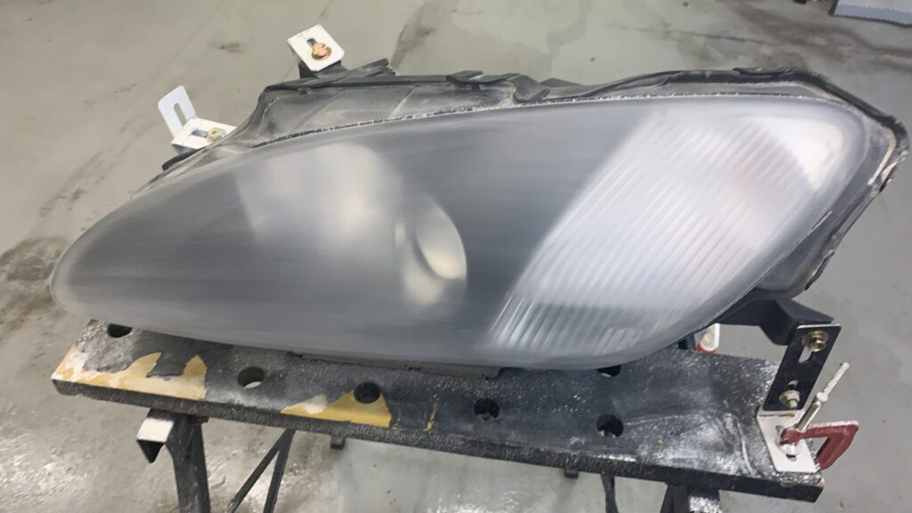 S2000ヘッドライト磨き修理