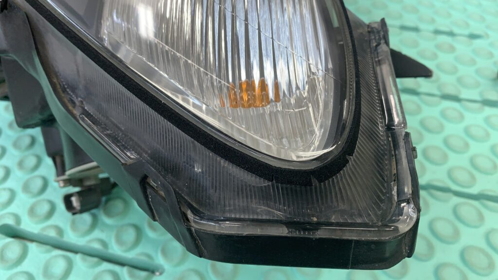 S2000ヘッドライトパッキン交換